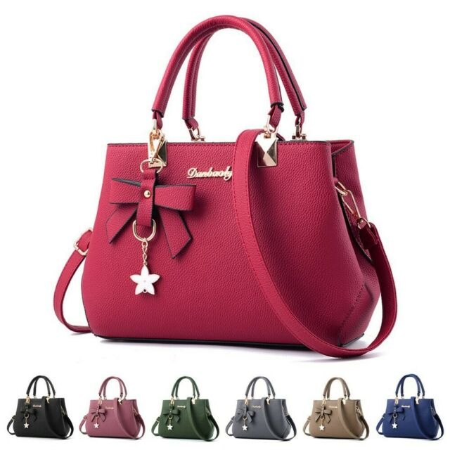 916809edbeb0 Women Faux Leather Handbag Shoulder Bag Purse Tote Messenger Satchel  Crossbody