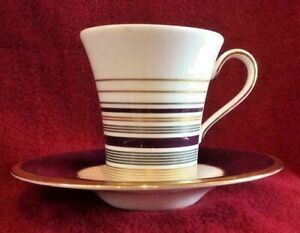 Wedgwood-Porcelain-China-Escape-Espresso-Expresso-Cup-w-Saucer-Coffee-Drink