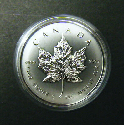 Canada 2014 Maple Leaf Classic Special Bullion $5 Pure Silver Reverse Proof