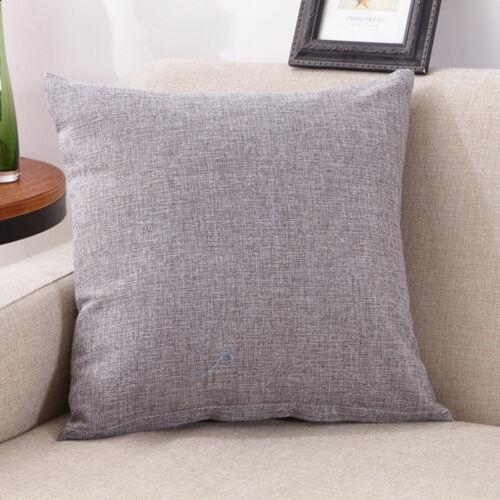 Simple Linen Cotton Throw Pillow Cases Club Sofa Cushion Cover Home Decor CH