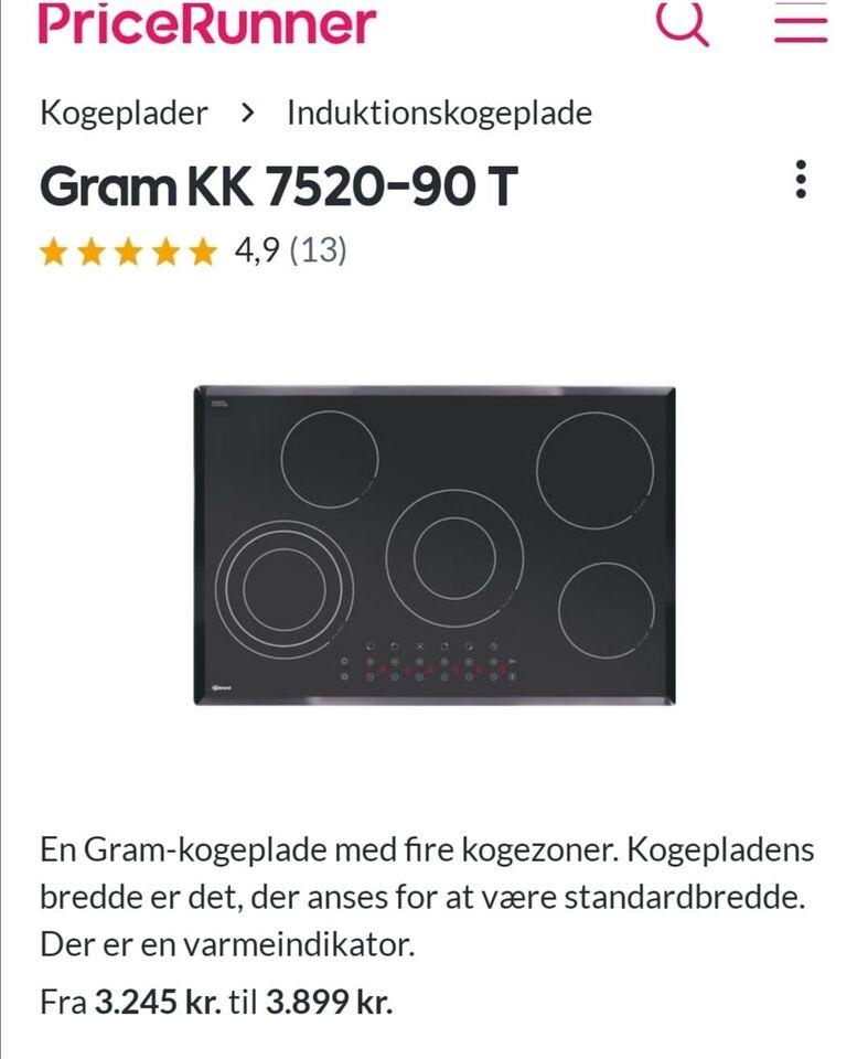 Kogeplade, Gram