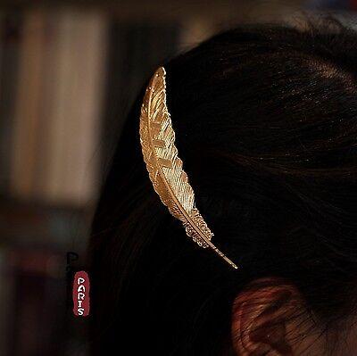 Epingle à Cheveux Feuille Simple Baroque Ancien Vintage Original