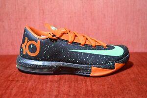 f72f8ce29e78 WORN 1X Nike KD 6 VI Texas Black Green Glow Urban Orange SZ 9 599424 ...