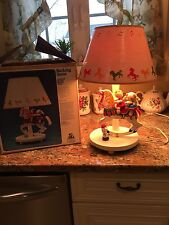 Vintage Nursery Originals Rocking horse Musical Lamp Gerber 1987