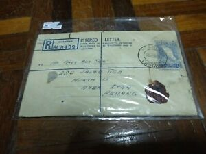 registered letter 1962 old malaysia
