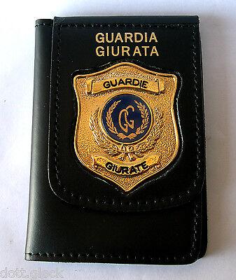 Portafoglio Portadocumenti in pelle con Placca International Police Association