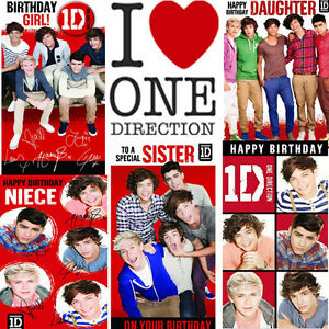 One Direction Birthday Cards Official Daughter Sister Niece Special