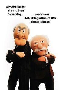 Muppets-Waldorf-Statler-Motif-12-Panneau-Metallique-Plaque-en-Etain-20-X-30-CM