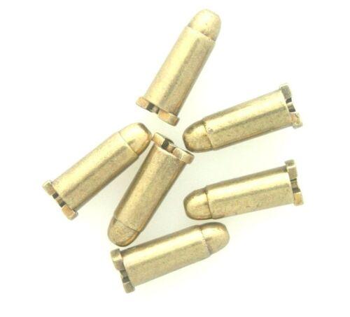 NEWDenix Dummy Cartridges for Revolvers 6 pack of Brass Shells for Denix 50025