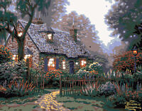 Plaid Foxglove Cottage Lighted Paint By Number Kit on sale