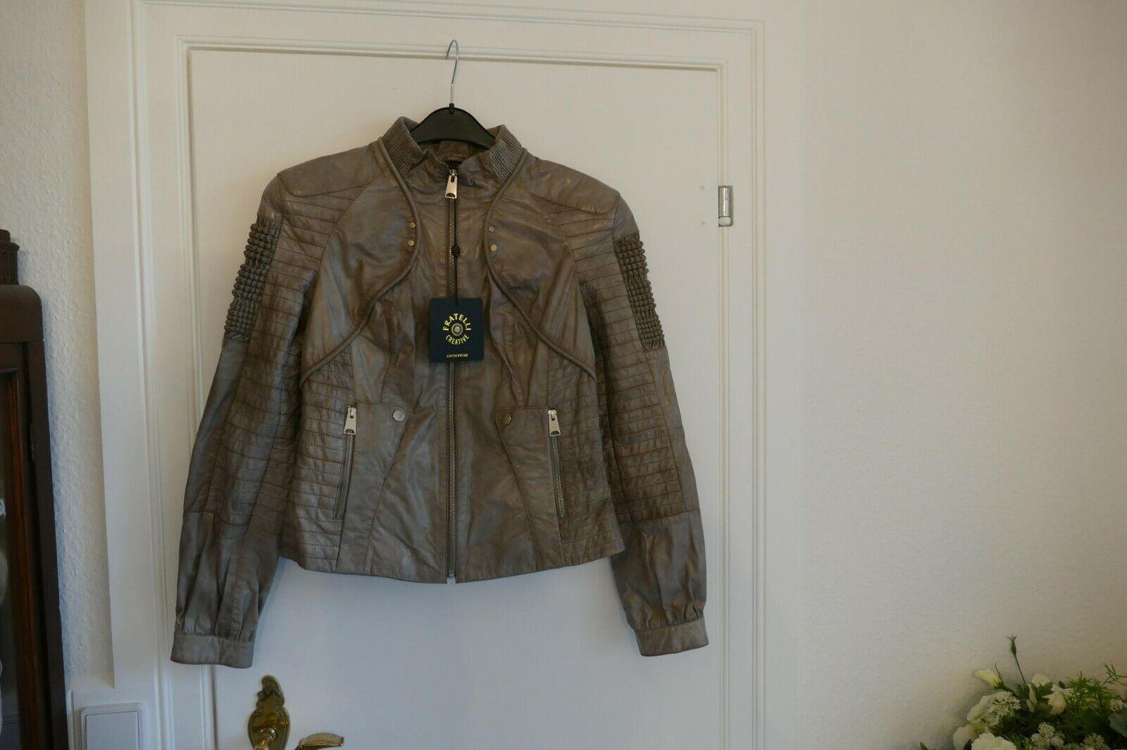 349---Fratelli  Lederjacke Damen XL Aufwendig gearbeitet