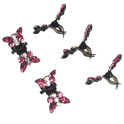 12 STÜCKE Schmetterling Kunststoff Haar Klaue Salon Clips Schellen Friseure RSDE