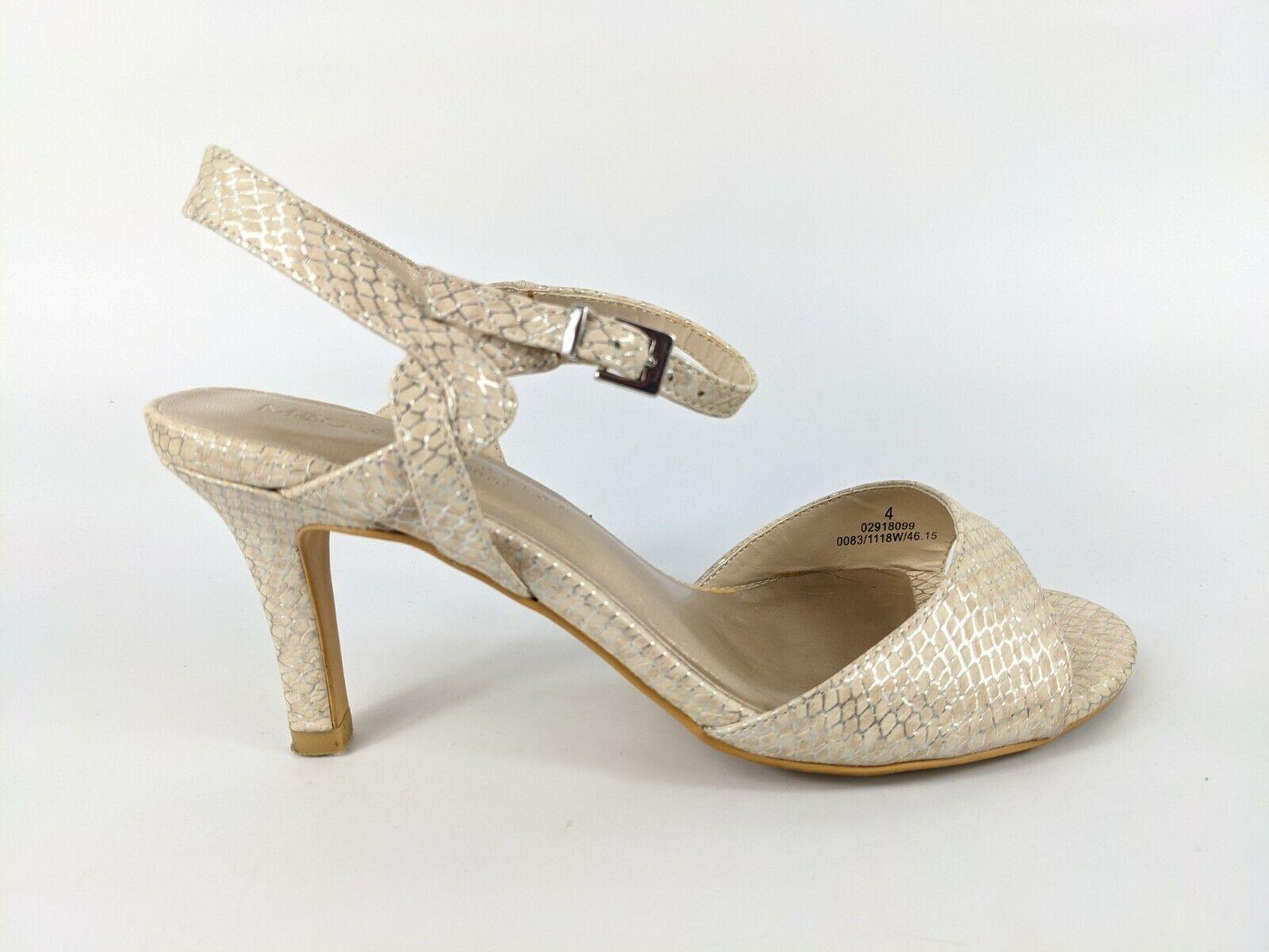 M & S Collection Snakeprint High Heel Sandals Uk 4 wide