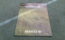 1981 RENAULT 20 UK BROCHURE LS TS TX TD
