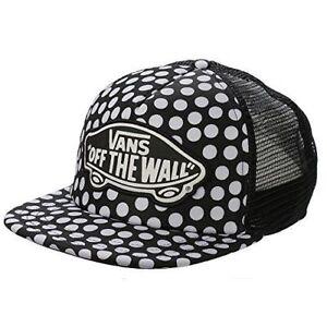 885d5d5a692 VANS - Beach Girl Trucker Hat (NEW) Dots SNAPBACK CAP Black White ...