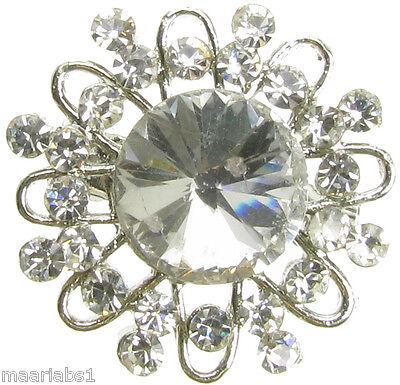 Plata Broche Diamante nupcial Ramo Pastel Decoración Zapato Pin Joyería Nuevo-UK