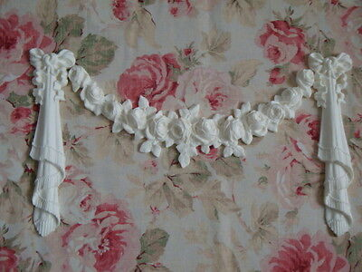 French Shabby Vintage Chic Style Floral and Rose Large Flexible Swag Applique