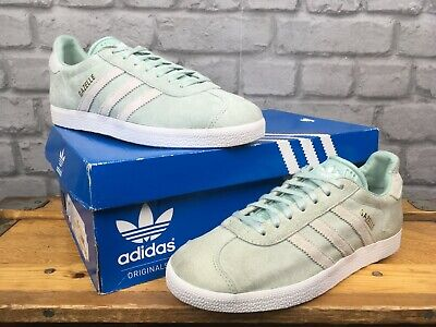 ADIDAS LADIES MINT GREEN GAZELLE OG TRAINERS RE DYE VARIOUS SIZES ...