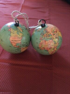 2 Green World Or Globe Christmas Ornaments - Mother Earth ...