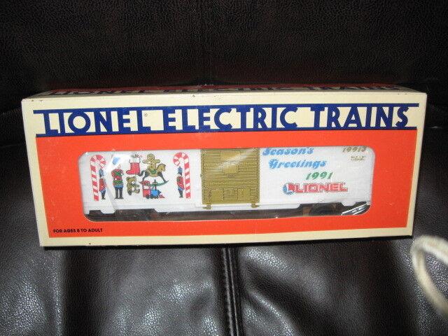 1991 Lionel O Guage Christmas Box Car NIB