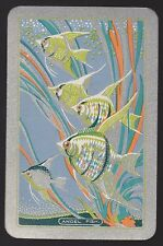 1 Single VINTAGE Swap/Playing Card EN FISH 'ANGEL FISH AN-1-1-A' Silver