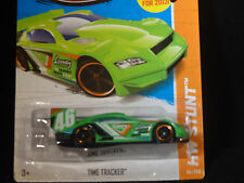 HW HOT WHEELS 2013 HW STUNT #95/250 TIME TRACKER RACE CAR HOTWHEELS LIME GREEN