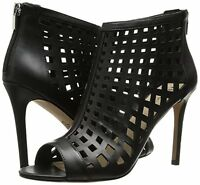 Charles David Womens Infusion Caged Leather Bootie Black 8.5m