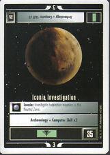 STAR TREK CCG WHITE BORDER PREMIERE 1995 BETA RARE CARD ICONIA INVESTIGATION