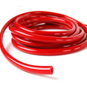 "Black ID:1//4/"" 0.25/"" 6MM SILICONE VACUUM HOSE TUBE PIPE RACING TURBO hose1 Foot"