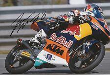 Jack Miller mano firmado 12x8 Foto Red Bull KTM Ajo Moto 3, MotoGP.