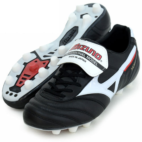 Mizuno Morelia 2 Zapatos De Fútbol p1ga1501 Negro Cuero De Canguro Hecho En Japón