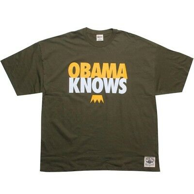 Collection Here Undrcrwn Obama Knows Men's Dark Green White Gold T Shirt 10444dkgld 2019 Latest Style Online Sale 50% Activewear Tops Activewear