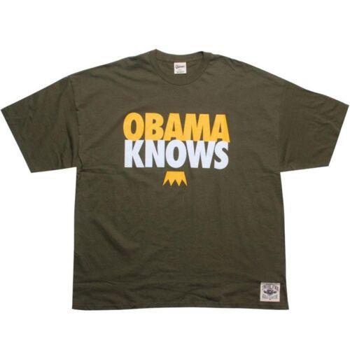 dark green // gold // white 10444DKGLD $39.99 Under Crown Obama Knows Tee