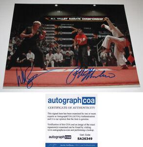 RALPH MACCHIO & WILLIAM ZABKA signed KARATE KID 11X14 PHOTO a Cobra Kai ACOA COA