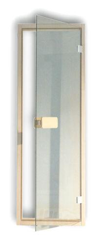 Saunatür Glas Tür Sauna Glastür Tür Türrahmen Rollverschluss Türgriff klar 8mm