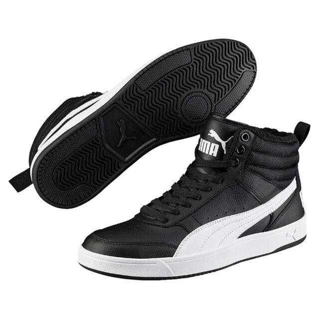 nieuwste ontwerp klassieke schoenen gedetailleerde foto's Puma Rebound Street V2 fur Winter Boots Men's Black Padded Warm