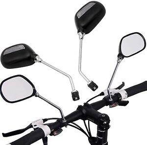 Espejos Para Bicicleta Redondo 3 Diámetros Cromado Con Reflector Amarillo