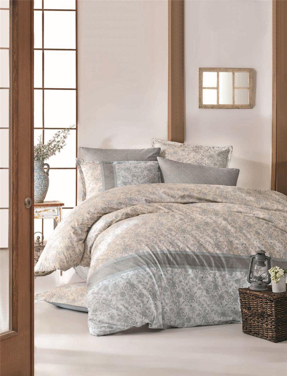 Bettwäsche 220x240 cm Bettgarnitur Bettbezug Bettbezug Bettbezug Baumwolle Kissen 6 tlg DEFNE BLAU 3fe0ae