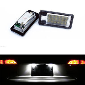 ECLAIRAGE-PLAQUE-LED-AUDI-A6-S6-RS6-FEUX-ARRIERES-IMMATRICULATION-BLANC-XENON