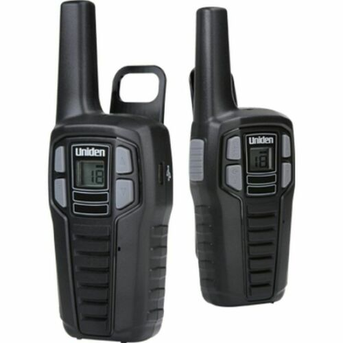UNIDEN Rechargeable 22 Channel 2-Way Radio Walkie Talkie 16 Mile Range 2-Pack