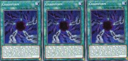 Tirage Playset common /> 3x chaosform /< led3-de011 allemand 1 Yu-Gi-Oh