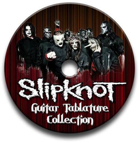 88 x SLIPKNOT HEAVY METAL ROCK GUITAR TAB TABLATURE SONG BOOK SOFTWARE CD