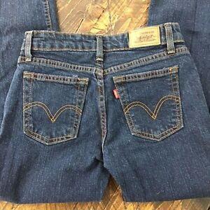 b267dc2560b Levi's 515 Womens 2 M Boot Cut Dark Wash Stretch Denim Jeans 26 x 28 ...