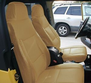 Astounding Details About Jeep Wrangler 2003 2006 Beige Iggee S Leather Custom Made Fit Seat Cover Gamerscity Chair Design For Home Gamerscityorg