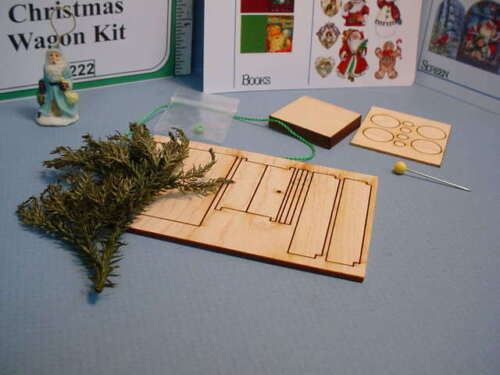 Miniature Christmas Wagon Kit #DF222 Dragonfly Int/'l 1//12th Scale