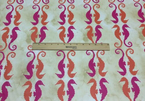 """WAVERLY P//K LIFESTYLES SIDE BY SIDE MIMOSA SEAHORSE FABRIC BY THE YARD 54/""""W"""