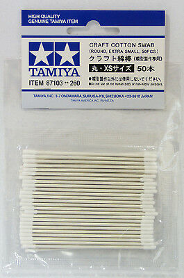 Tamiya 87103 Craft Cotton Swab Round Extra Small (50 pcs.)