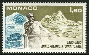 Monaco 1358, MNH. Intl. Polar Year, cent. Prince Louis, Discovery, 1982