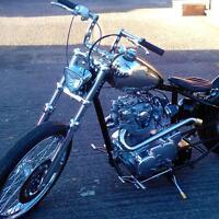 Chrome Narrow Z-bars 1 Handlebars Fit Harley Sportster Dyna Chopper Bobber Us