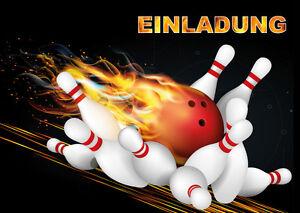 10 einladungskarten zum kindergeburtstag bowling, Einladung